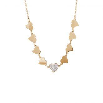 Delicia collana in acciaio con IP oro N15468 4 You Jewels