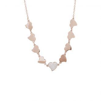 Delicia collana in acciaio con IP rosa N15467 4 You Jewels