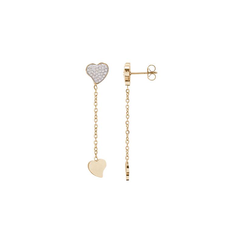 Delicia orecchini in acciaio con IP oro E15468 4 You Jewels