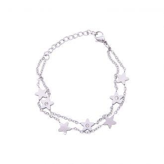 Eloisa bracciale in acciaio e cristalli B15035 4 You Jewels