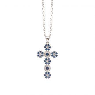 Flowers ciondolo in ottone rodiato e zirconi e catenina in acciaio P15620SP For You Jewels