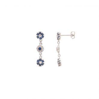 Flowers orecchini in ottone rodiato e zirconi E15622SP For You Jewels