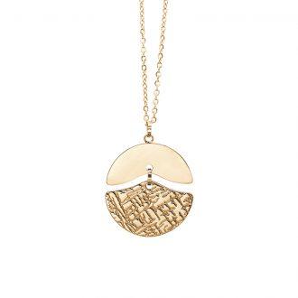 Gillian collana in acciaio con IP oro N15433 4 You Jewels