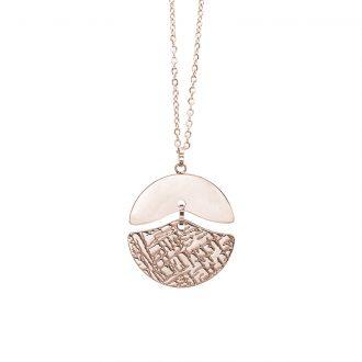 Gillian collana in acciaio con IP rosa N15434 4 You Jewels