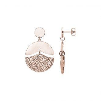 Gillian orecchini in acciaio con IP rosa E15434 4 You Jewels