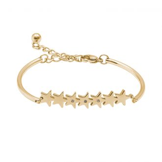 Hannah bracciale acciaio e cristalli con IP oro B15220 4 You Jewels