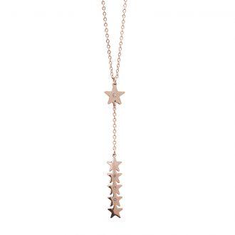 Hannah collana acciaio e cristalli con IP rosa N15221 4 You Jewels