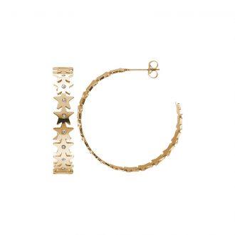 Hannah orecchini acciaio e cristalli con IP oro E15220 4 You Jewels