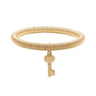 Ileana bracciale in acciaio con IP oro B15632 4 You Jewels