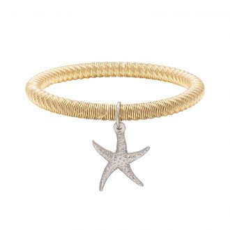 Ileana bracciale in acciaio con IP oro B15633 4 You Jewels