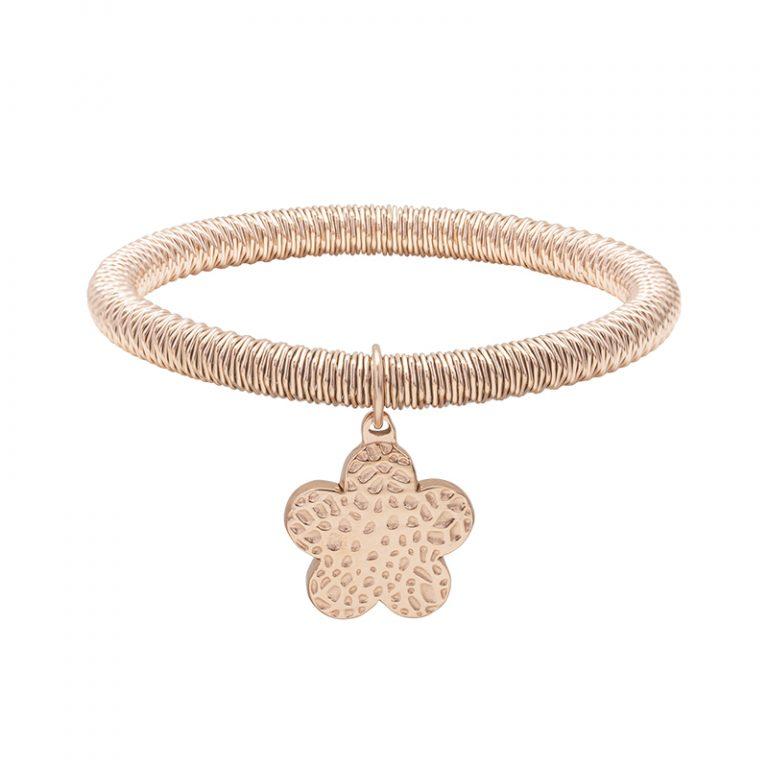 Ileana bracciale in acciaio con IP rosa B15629 4 You Jewels