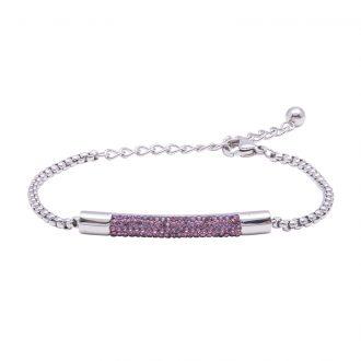 Katrin bracciale in acciaio con cristalli B15204 4 You Jewels