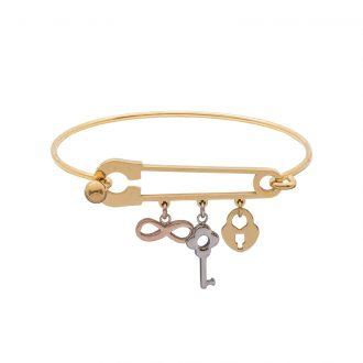 Leona bracciale in acciaio con IP oro e rosa B15454 4 You Jewels