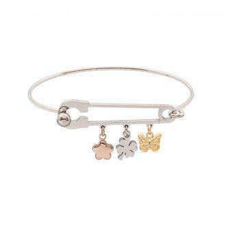 Leona bracciale in acciaio con IP oro e rosa B15455 4 You Jewels