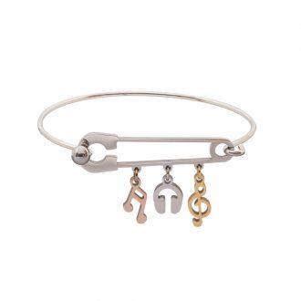 Leona bracciale in acciaio con IP oro e rosa B15456 4 You Jewels
