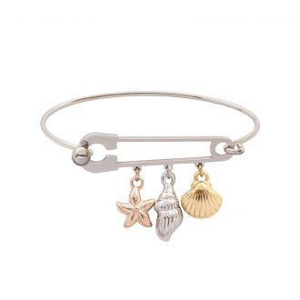 Leona bracciale in acciaio con IP oro e rosa B15457 4 You Jewels