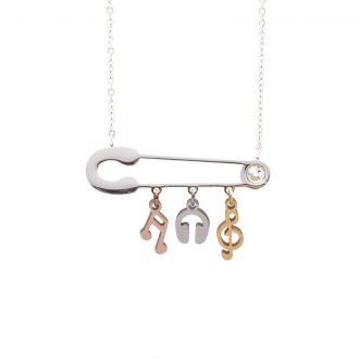 Leona collana in acciaio e cristalli con IP oro e rosa N15456 4 You Jewels