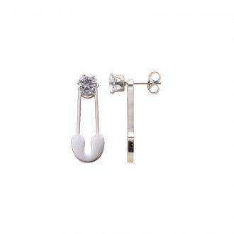 Leona orecchini in acciaio e cristalli E15450 4 You Jewels