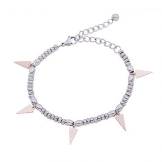 Leonora bracciale in acciaio con IP rosa B15230 4 You Jewels