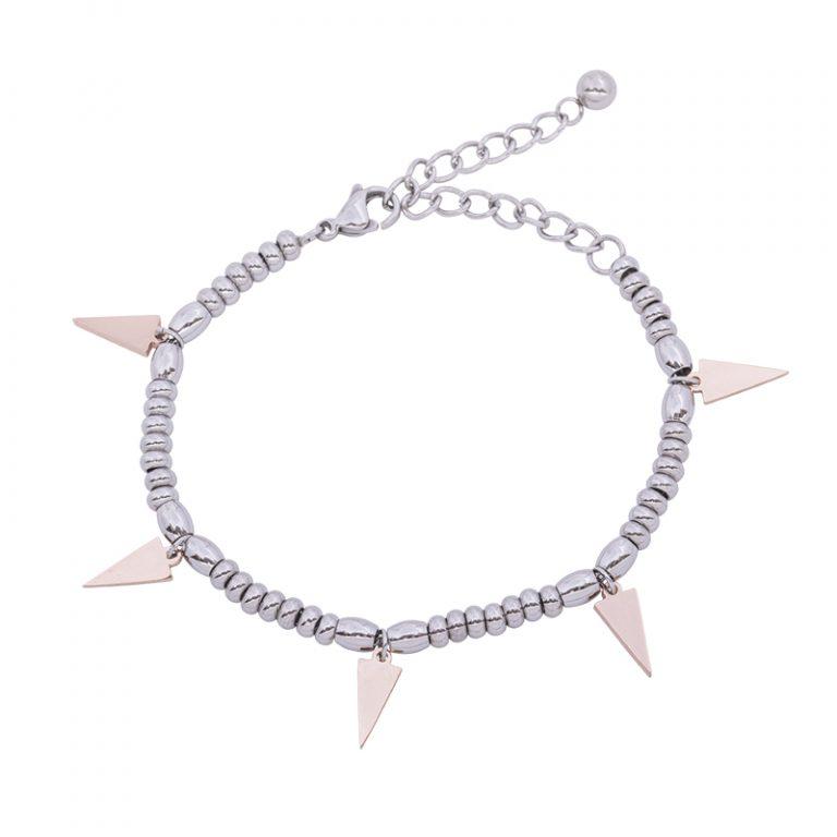 Leonora bracciale in acciaio con IP rosa B15230 4 You Jewels