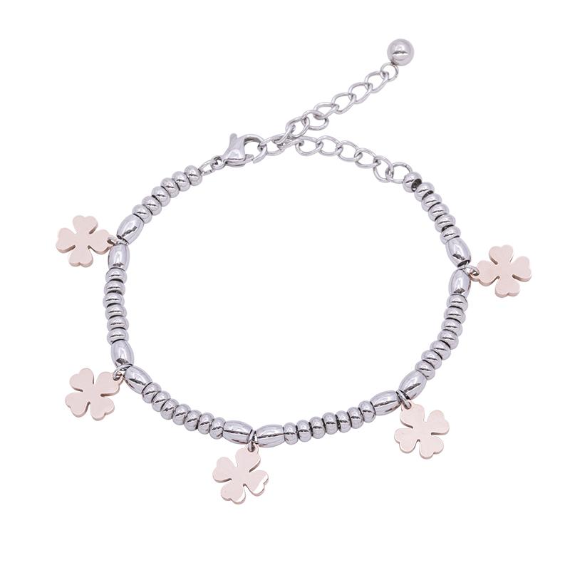 Leonora bracciale in acciaio con IP rosa B15231 4 You Jewels