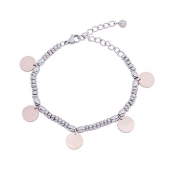 Leonora bracciale in acciaio con IP rosa B15232 4 You Jewels