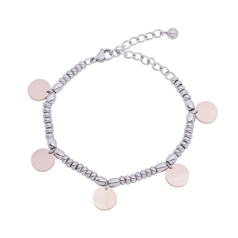 Leonora bracciale in acciaio con IP rosa B15232 4 You Jewels