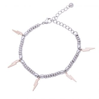 Leonora bracciale in acciaio con IP rosa B15233 4 You Jewels