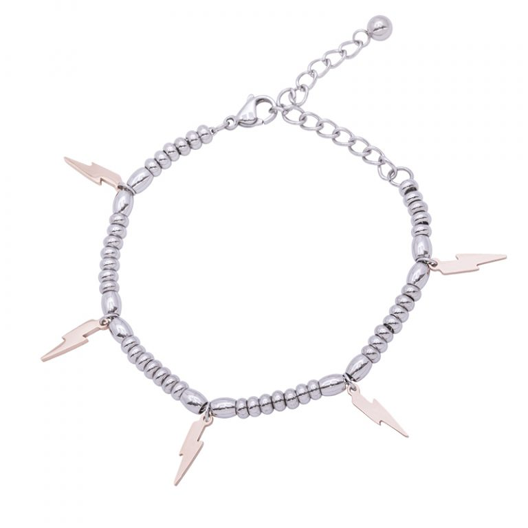 Leonora bracciale in acciaio con IP rosa B15233 4 You Jewels