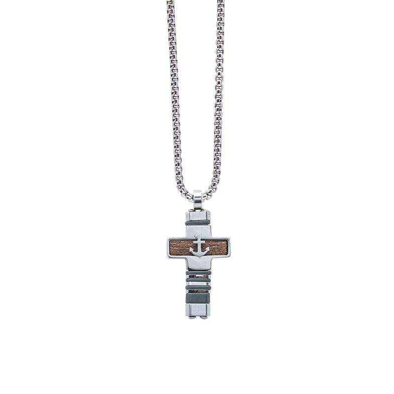 Man Energy collana in acciaio P15171 4 You Jewels