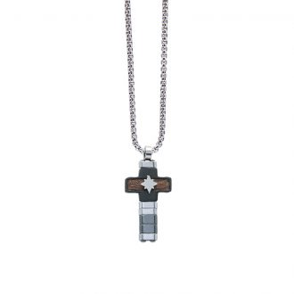 Man Energy collana in acciaio P15173 4 You Jewels