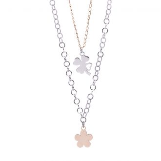 Micaela collana in acciaio con IP rosa N15641 4 You Jewels