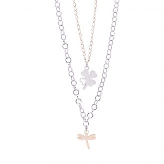 Micaela collana in acciaio con IP rosa N15643 4 You Jewels