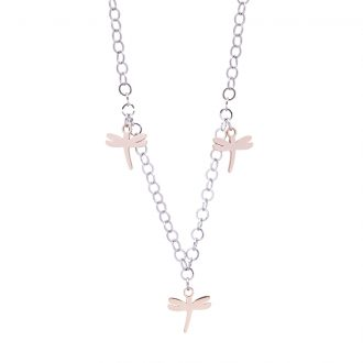 Micaela collana in acciaio con IP rosa N15648 4 You Jewels