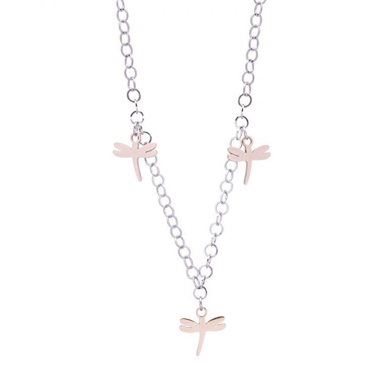 Micaela collana in acciaio con IP rosa N15648 4 You Jewels