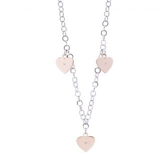 Micaela collana in acciaio e cristalli con IP rosa N15646 4 You Jewels