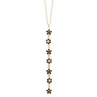 BLOSSOM CIONDOLO IN ARGENTO 925‰ DORATO E ZIRCONI CON CATENINA IN ACCIAIO INALTERABILE P15607GK For You Jewels