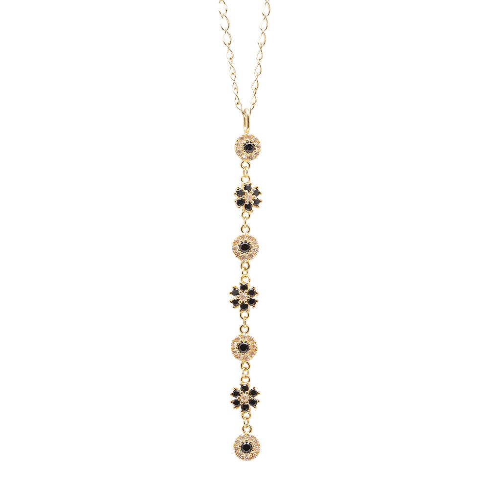BLOSSOM CIONDOLO IN ARGENTO 925‰ DORATO E ZIRCONI CON CATENINA IN ACCIAIO INALTERABILE P15610GK For You Jewels