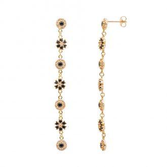 BLOSSOM ORECCHINI IN ARGENTO 925‰ DORATO E ZIRCONI E15610GK For You Jewels