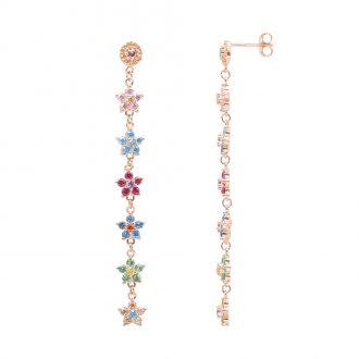 BLOSSOM ORECCHINI IN ARGENTO 925‰ ROSATO E ZIRCONI E15608MP For You Jewels