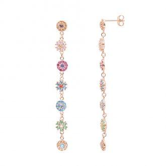 BLOSSOM ORECCHINI IN ARGENTO 925‰ ROSATO E ZIRCONI E15609MP For You Jewels
