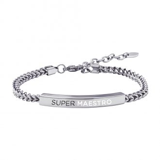 School Bracciale in acciaio con incisione in smalto SUPER MAESTRO B15824 For You Jewels