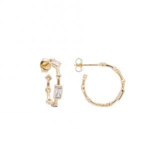 Annabelle Orecchini in argento 925‰ dorato con zirconi E15422 4 You Jewels