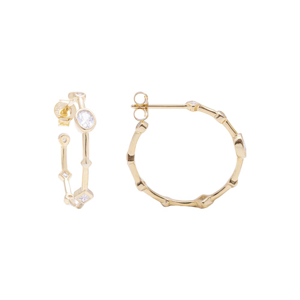 Annabelle Orecchini in argento 925‰ dorato con zirconi E15425 4 You Jewels