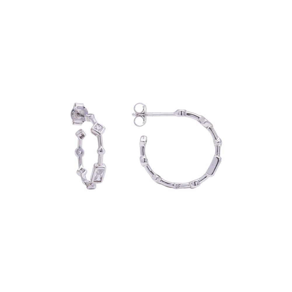 Annabelle Orecchini in argento 925‰ rodiato con zirconi E15420 4 You Jewels