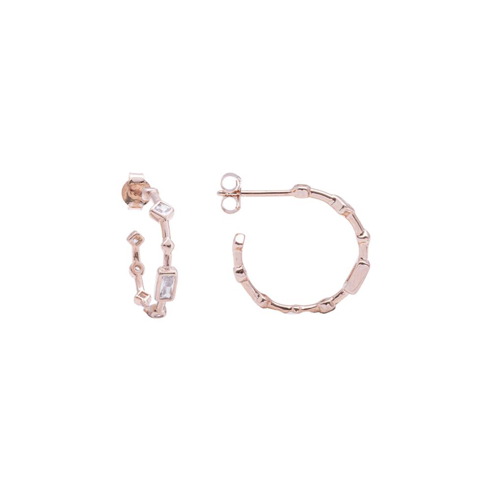 Annabelle Orecchini in argento 925‰ rosato con zirconi E15421 4 You Jewels