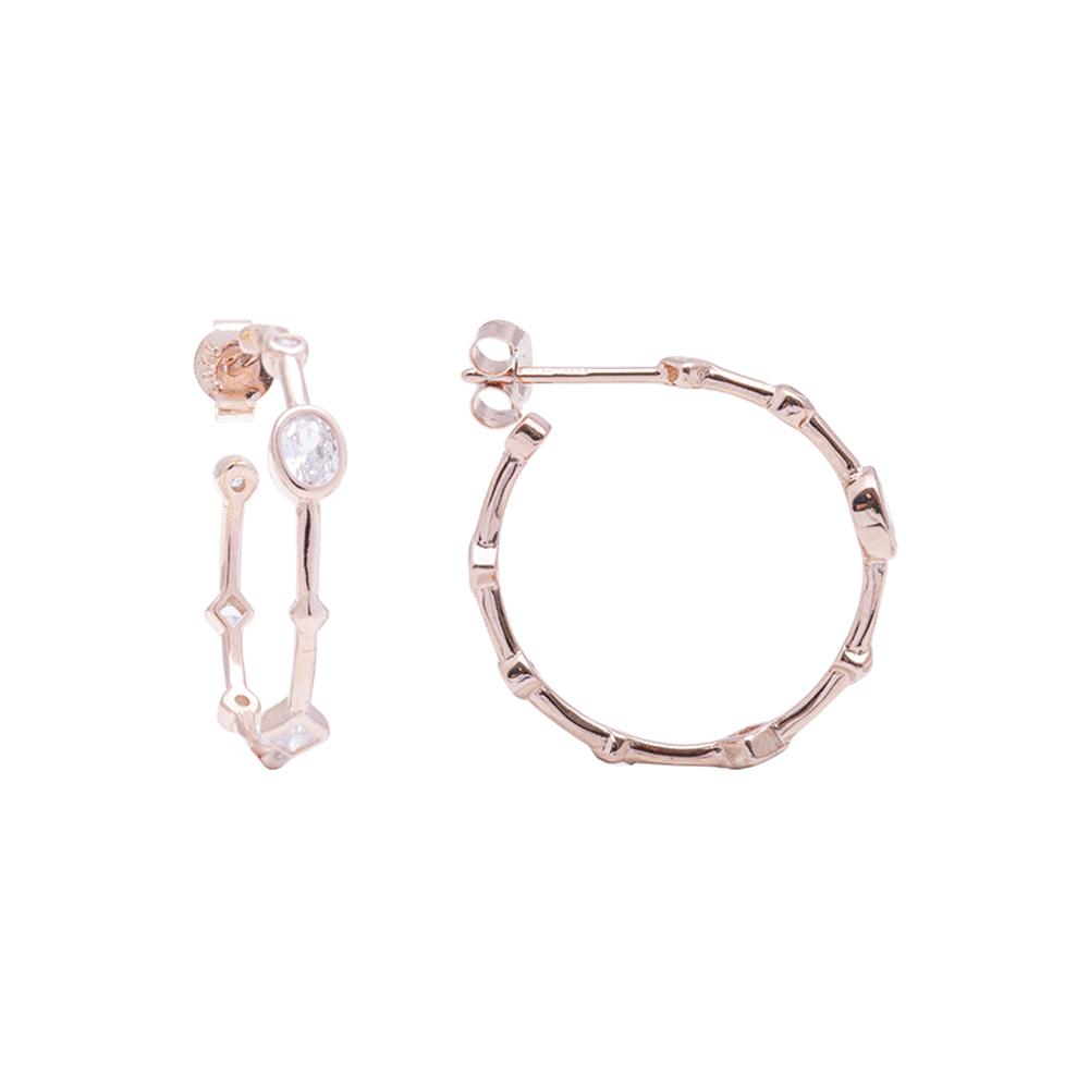 Annabelle Orecchini in argento 925‰ rosato con zirconi E15424 4 You Jewels