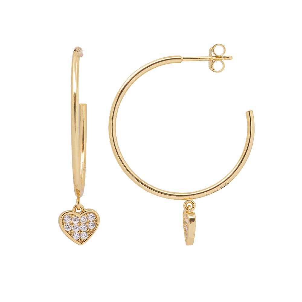Aria Orecchini in argento 925‰ dorato con zirconi E15412GP 4 You Jewels