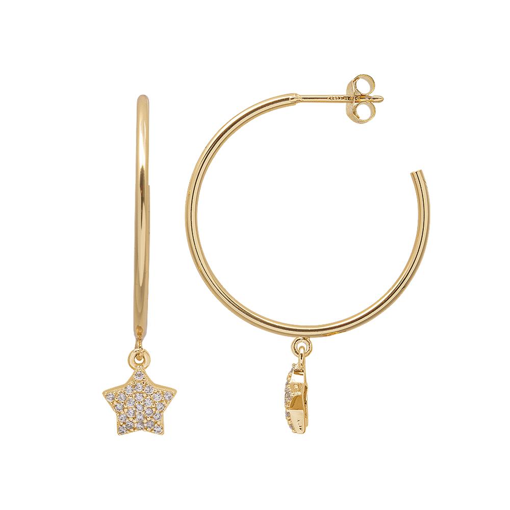 Aria Orecchini in argento 925‰ dorato con zirconi E15414GP 4 You Jewels