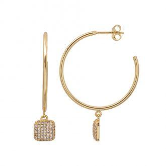 Aria Orecchini in argento 925‰ dorato con zirconi E15416GP 4 You Jewels